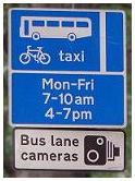 Bus lane cameras in UK